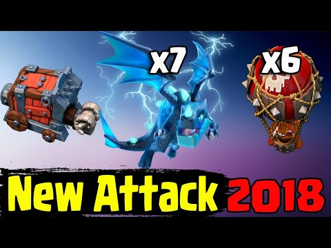 7 MAX ELECTRO DRAGON+ 6 MAX BALLOON + SIEGE MACHINE: NEW ATTACK  TH12  2018 (Updated) Clash Of Clans