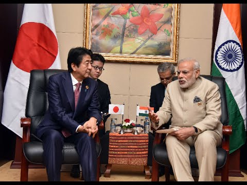 PM Modi Meets Japan PM Shinzo Abe in Laos