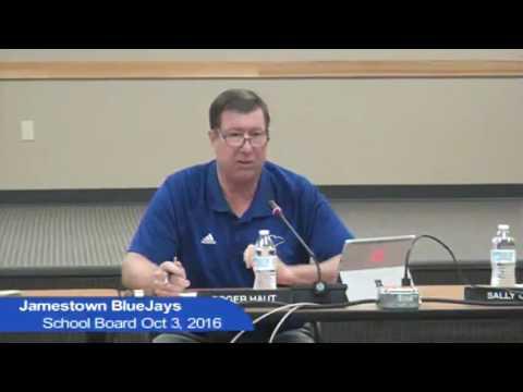 Jamestown Public Schools October 3, 2016