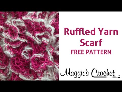 Starbella Luxe Yarn Crochet Ruffled Scarf - Right Handed