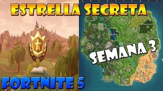 👉 UBICACIÓN LA ESTRELLA SECRETA DE COMBATE | FORTNITE BATTLE ROYALE