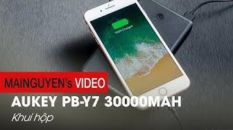 Mở hộp pin dự phòng khủng 30000mAh Aukey PB-Y7: Nâng cấp mạnh so với bản T11 - www.mainguyen.vn