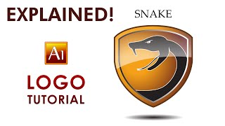 Adobe Illustrator Tutorial - SNAKE - How to create a Professional  Logo