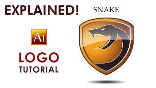 Adobe Illustrator Tutorial - SNAKE - How to create a Professional  Logo