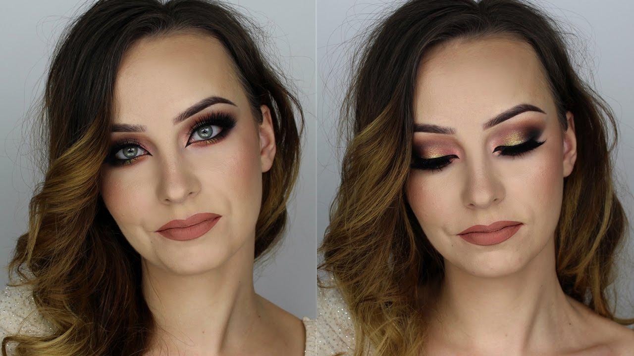 Makijaż Sylwestrowy Brokat Zieleń Złoto Alicjaj Make Up Youtube