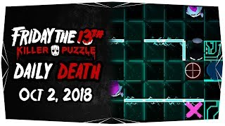 Friday the 13th: Killer Puzzle Daily Death Solution - October 2, 2018