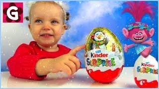 Gaby opens Huge Christmas Kinder Surprise Eggs