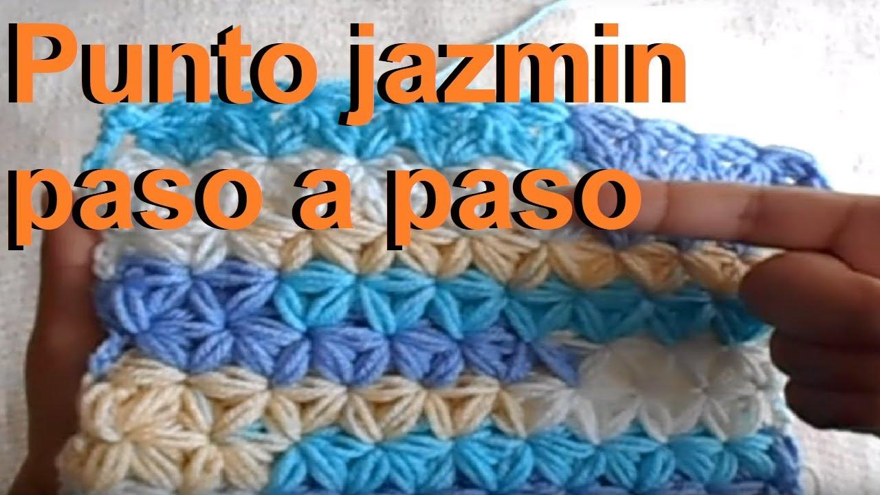 Punto Jazmin A Ganchillo Crochet Paso A Paso Facil Y Rapido Youtube