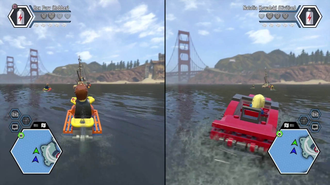 Lego City Undercover Split Screen 2 Players Random Gameplay 1 Youtube
