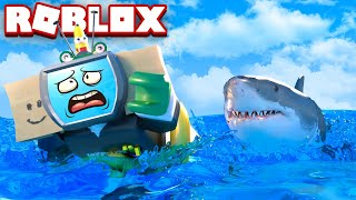 Swim FAST From ANGRY SHARK In ROBLOX!