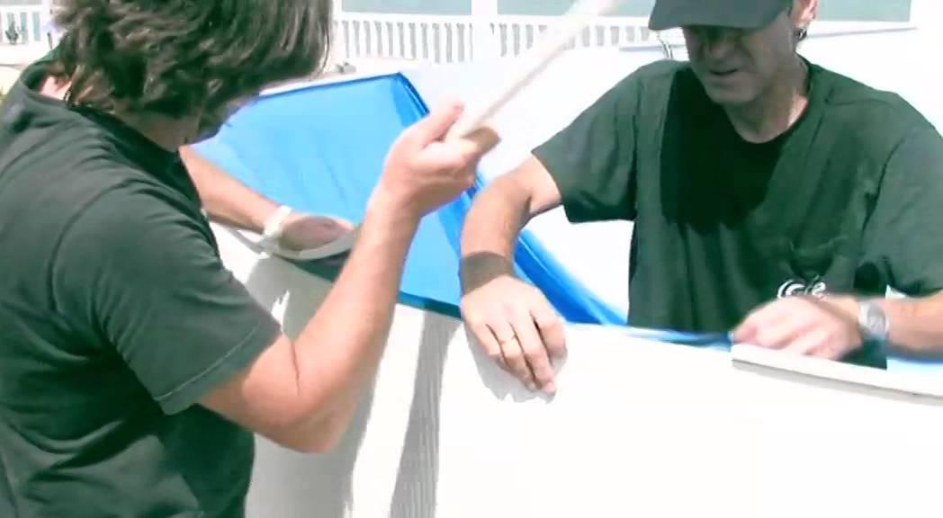 installation d une piscine hors sol ronde acier mypiscine com
