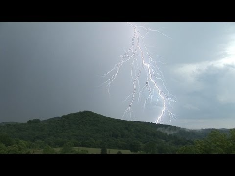 Lightning Over Appalachian Mountains Compilation - West Virginia