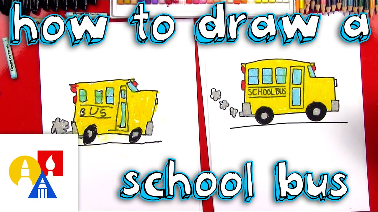 how to draw a school bus youtube