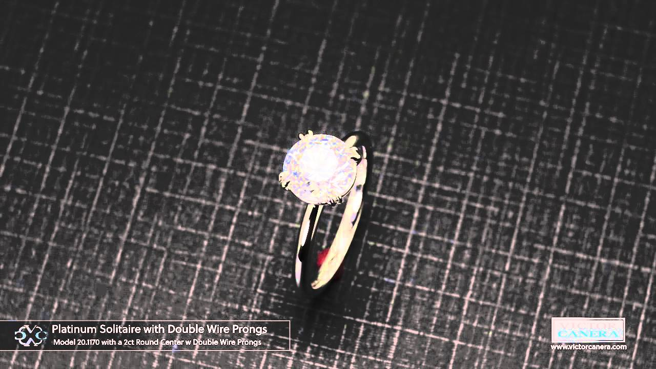 Classic Solitaire with 2ct Center with Double Wire Eagle Prongs ...