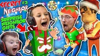 HELLO NEIGHBOR SURPRISE GIFTS!! 🎁 FGTEEV plays SECRET NEIGHBOR #3 (Christmas Map)