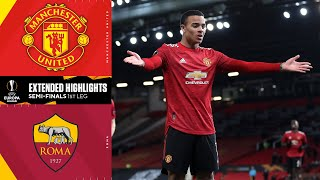 Manchester united have one foot in the uefa europa league final after a wild 6-2 win over as roma at old trafford on thursday. edinson cavani and bruno ferna...