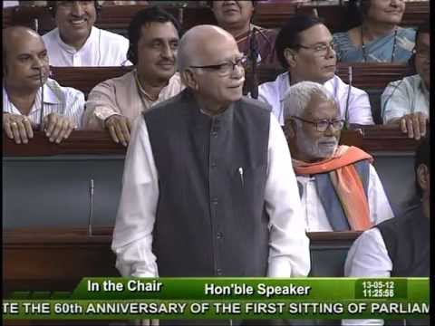 60th Anniversary of the first Sitting of Parliament: Sh. Lal Krishna Advani: 13.05.2012