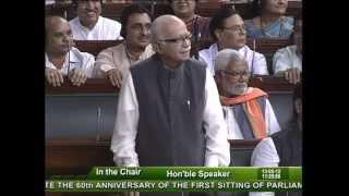 60th Anniversary of the first Sitting of Parliament: Sh. Lal Krishna Advani: 13.05.2012
