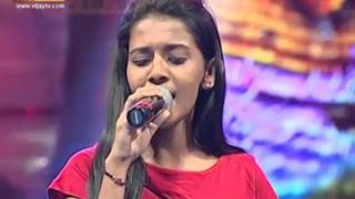 "Priyanka sings ""Thendral Vanthu Theendum Pothu"" with Soniya. Link to full song in the description.."