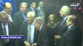 بالفيديو.. يحيى الجمل وأباظة وعدد من سفراء الدول العربية في عزاء بطرس غالي