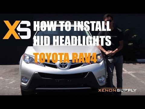XS Toyota Rav4 HID - How to Install HID Xenon 2013+