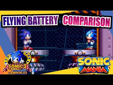 Sonic Mania and Sonic 3 & Knuckles (Flying Battery Zone) Side by Side Comparison
