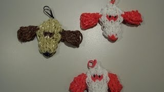How To Make A Rainbow Loom Puppy Love Dog Charm - Valentine's Day