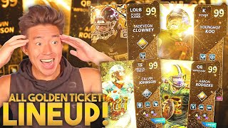 ALL GOLDEN TICKET LINEUP! This Team Is Overpowered.. Madden 21