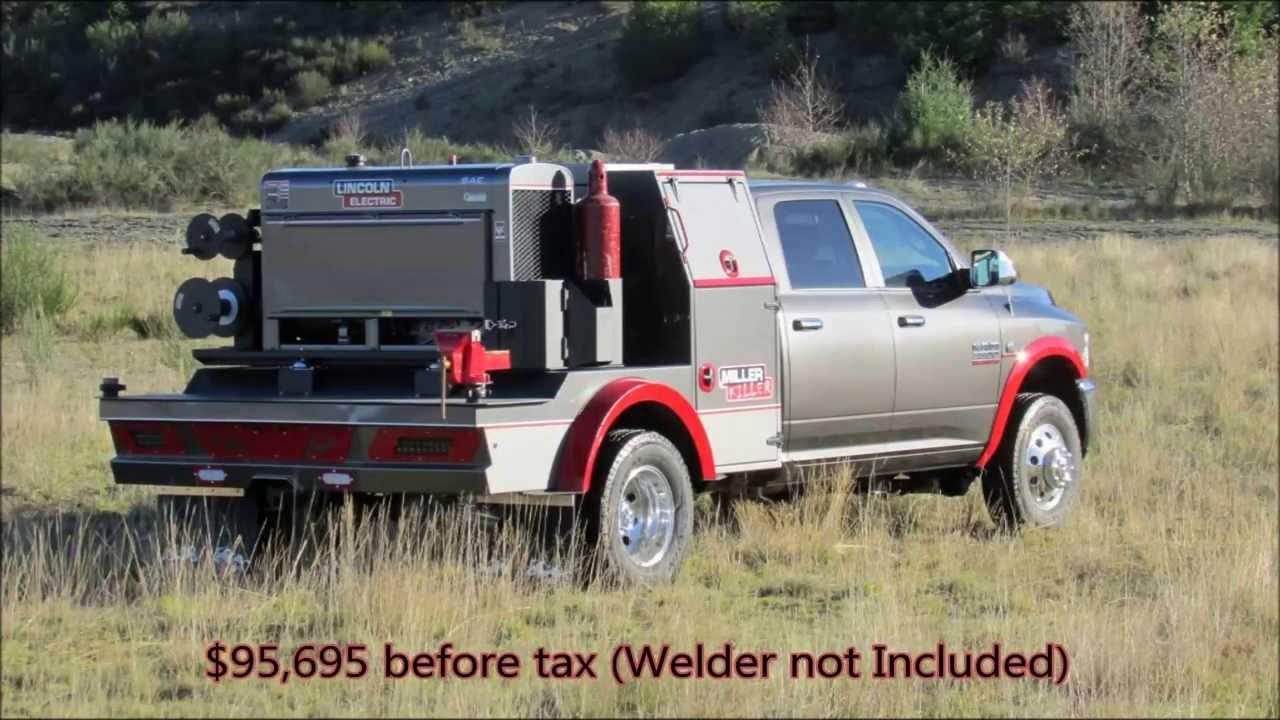 Pipeline Welding Trucks >> Express Custom Mfg - Rival Truck - Miller Killer Portable Welder's Rig Truck Deck - YouTube