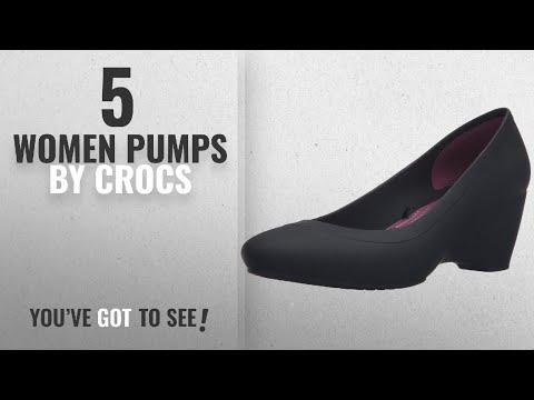 9a86c59fd2a77 Top 5 Crocs Women Pumps [2018]: Crocs Women's Lina Wedge Pump, Black ...
