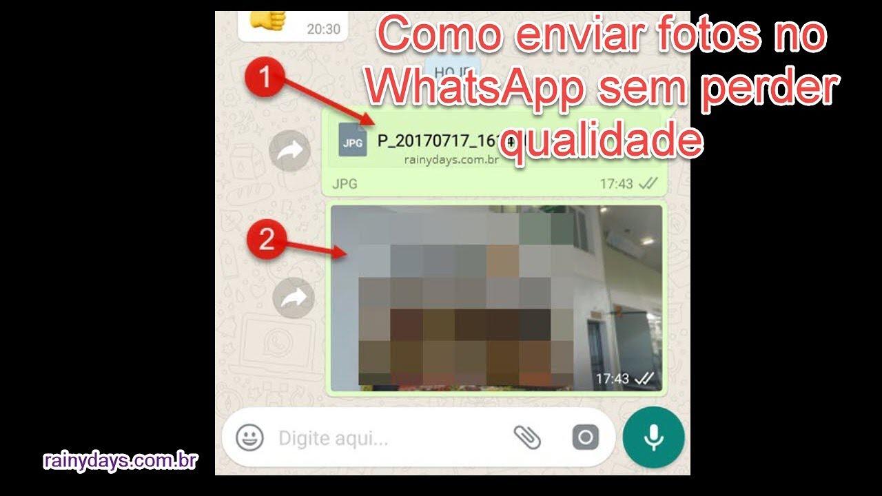 Como Enviar Fotos No Whatsapp Sem Perder Qualidade Rainydays Com Br Youtube