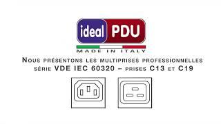 Prises de rack professionnelles Série VDE 60320 prises IEC C13 C19.