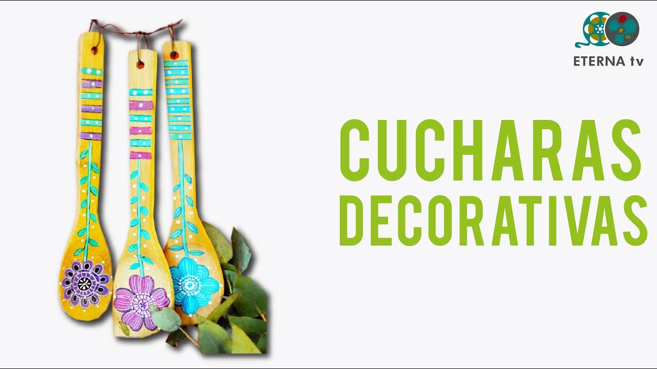 Cucharas de madera decorativas youtube - Chimeneas decorativas en madera ...