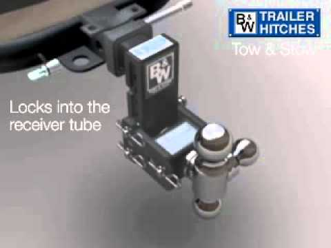 Tow Stow Receiver Trailer Hitch By Bw Youtube