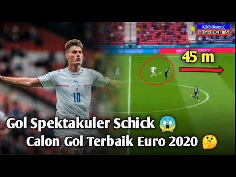 ⭕ Gol Spektakuler Schick 😱, Calon Gol Terbaik Euro 2020 🤔