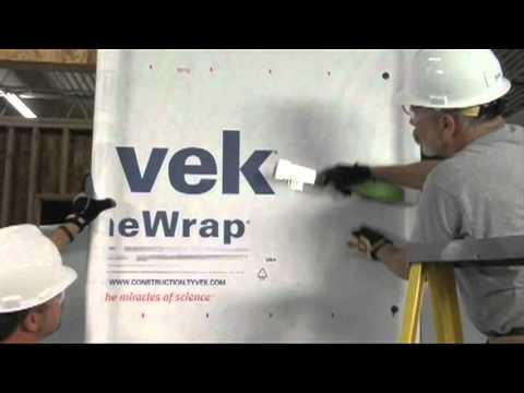 How To Install Dupont Tyvek Homewrap Youtube