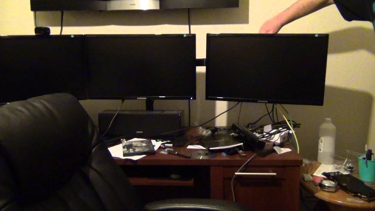 Ergotech Triple LCD Desk Stand 100D16B03 review YouTube