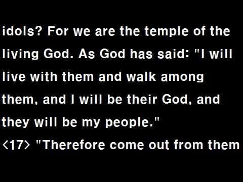 Text Audio Bible (T.A.Bible 110 / NIV) : 2Corinthians 1~10