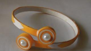 DIY Easy Paper Quilling Bracelet
