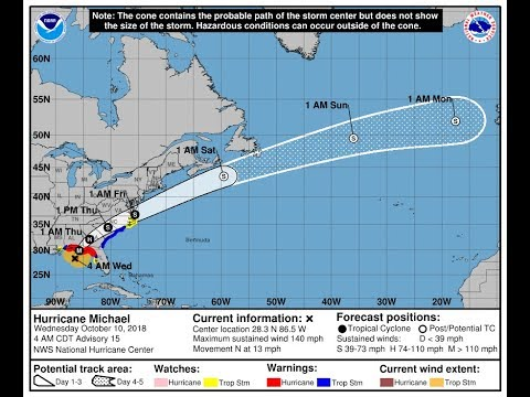 Tracking Hurricane Michael - Weather Channel (READ DESCRIPTION)