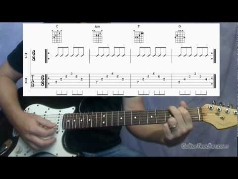 Classic 50s Rock Guitar  The Oldies Chord Progression 819 Guitar Teacher