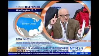 Otto Reich habla sobre acusaciones contra María Corina Machado de planes de golpe de Estado