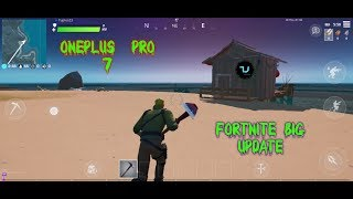 Fortnite BIG UPDATE Chapter 2/Android 10 Oneplus 7 Pro gameplay/Epic graphics 30 fps