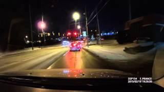 E-PRANCE® B48 Super HD 1296P Dash Cam at night