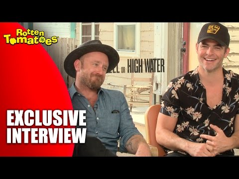Chris Pine's First Time Trying Prickly Pear Beer - 'Hell or High Water' Exclusive Interview (2016)