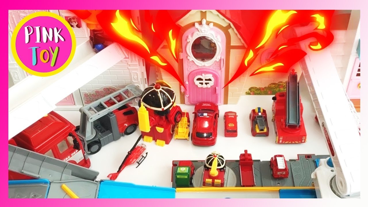 The fire has grown! All fire trucks go out!! with PINKFONG friends, 불이야! 불이 커졌어요!!!(핑크토이 pink toy)