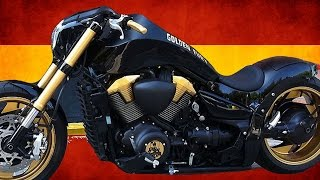 "Suzuki Intruder M1800R | Boulevard M109R ""Golden Fury"" by Free Kustom Cycles 