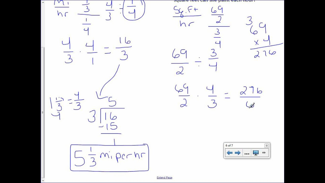 small resolution of 7th Grade 1-2: Complex Fractions and Unit Rates - YouTube