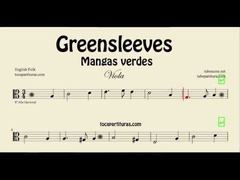 Greensleeves Sheet Music for Viola What child is this Partitura de Mangas Verdes