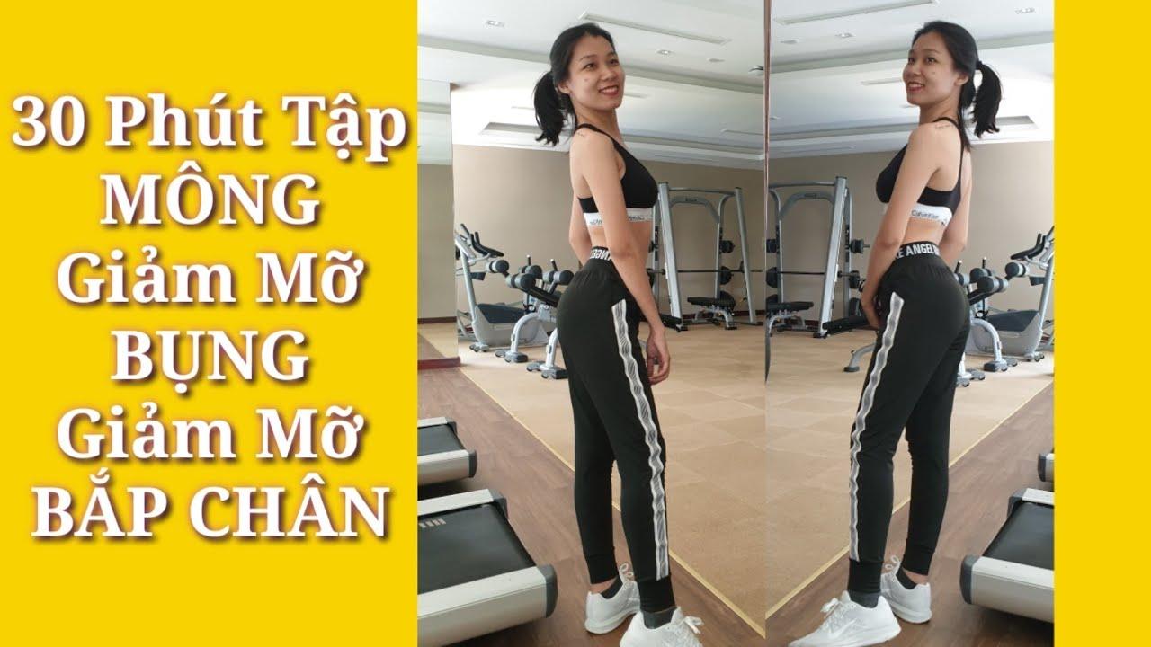 30 Phút Tập MÔNG Giảm Mỡ Bụng Giảm Mỡ Bắp Chân Cùng Junie – HLV Ryan Long Fitness
